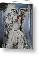 Winter Ice Angel Greeting Card by Carla Carson