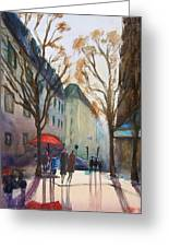 Winter In Paris Greeting Card by Lior Ohayon