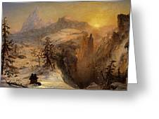 Winter In Switzerland Greeting Card by Jasper Francis Cropsey