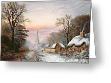Winter Landscape Greeting Card by Charles Leaver