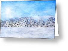Winter Landscape Greeting Card by Darren Fisher