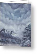 Winter Landscape Greeting Card by Troy Wilfong