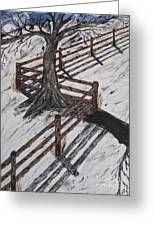 Winter Moon Shadow Greeting Card by Jeffrey Koss