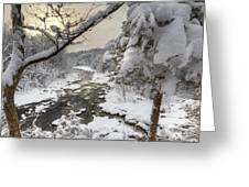 Winter Morning Greeting Card by Bill Wakeley