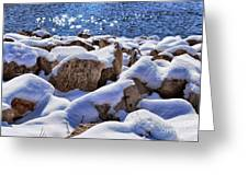 Winter On The Rocks Greeting Card by Shutter Happens Photography