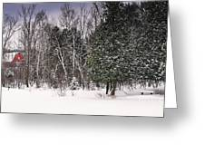 Winter Postcard Greeting Card by Gwen Gibson
