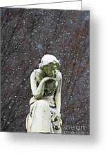 Winter Prayers Greeting Card by adSpice Statues