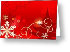 Winter Red Greeting Card by Clipartdesign