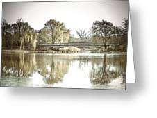 Winter Reflection Landscape Greeting Card by Julie Palencia