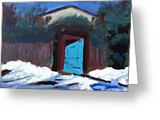 Winter Retreat Greeting Card by Roy Gould