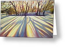 Winter Shadows Greeting Card by Sheila Diemert
