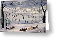 Winter Skating Greeting Card by Linda Mears
