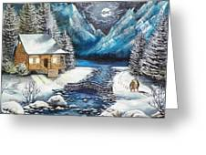 Winter Solstice Greeting Card by Kevin F Heuman