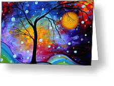 Winter Sparkle Original Madart Painting Greeting Card by Megan Duncanson