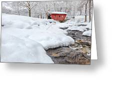 Winter Stream Greeting Card by Bill Wakeley