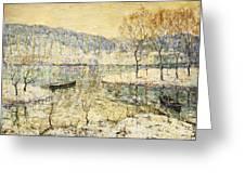 Winter Stream Greeting Card by Ernest Lawson