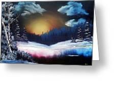 Winter Sun Rise Greeting Card by Ryan Wells