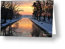 Winter Sunrise At Mitchell State Park Greeting Card by Terri Gostola