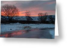 Winter Sunrise Greeting Card by Chad Dutson