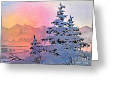 Winter Twilight Greeting Card by Teresa Ascone