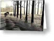 Winter Walk Greeting Card by Cynthia Decker