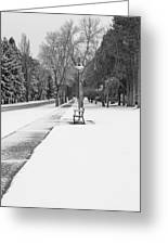 Winter Walk Greeting Card by Fran Riley