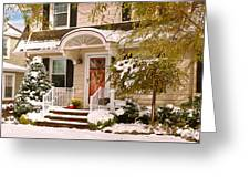 Winter - Westfield Nj - It's Too Early For Winter Greeting Card by Mike Savad