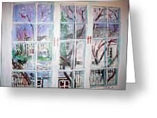 Winter Window Greeting Card by Michael Litvack