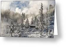 Winter Wonderland - Yellowstone National Park Greeting Card by Sandra Bronstein