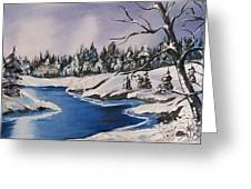 Winter's Blanket Greeting Card by Sharon Duguay