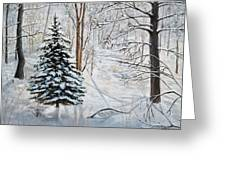 Winter's Peace Greeting Card by Vicky Path