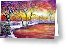 Winter's Song Greeting Card by Ann Marie Bone