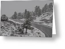 Wintry Climb Greeting Card by Harry Strharsky