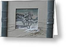 Wintry Morning Greeting Card by Yakubouskaya Olga