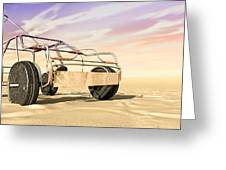 Wire Toy Car In The Desert Perspective Greeting Card by Allan Swart