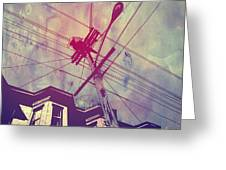 Wires Greeting Card by Giuseppe Cristiano