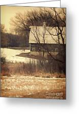 Wisconsin Barn In Winter Greeting Card by Jill Battaglia