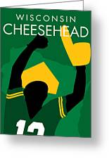 Wisconsin Cheesehead Greeting Card by Geoff Strehlow
