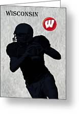 Wisconsin Football Greeting Card by David Dehner