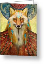 Wise Fox Greeting Card by Aimee Stewart