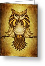 Wise Owl Greeting Card by Brenda Bryant