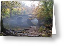 Wissahickon Creek And Bells Mill Road Bridge Greeting Card by Bill Cannon
