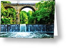 Wissahickon Falls Greeting Card by Bill Cannon