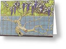 Wisteria Greeting Card by Don Perino