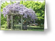 Wisteria Gazebo Greeting Card by Andrew Montgomery