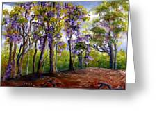 Wisteria In Louisiana Trees Greeting Card by Lenora  De Lude