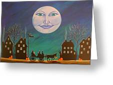 Witch Moon Greeting Card by Christine Altmann