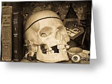 Witches Bookshelf Greeting Card by Edward Fielding