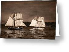 With Full Sails Greeting Card by Dale Kincaid