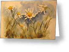 Withering Daisy's Greeting Card by Ramona Kraemer-Dobson